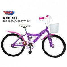 Bicicleta 20 Violeta - Bicicleta copii Toimsa