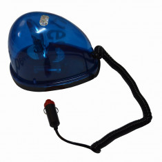 Girofar auto BestAutoVest 24V albastru cu bec de 5W, tip lacrima cu fixare magnetica