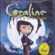 Film Blu Ray 3D: Coraline ( disc original - subtitrare in lb.engleza, etc.) - Film animatie