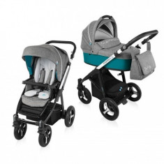 Carucior Multifunctional 2 In 1 Husky Wp 05 Turqouise 2016 - Carucior copii 2 in 1 Baby Design