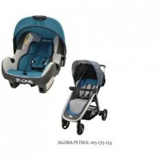 Carucior Travel System Fastfold(Metro)-Agora Petrol - Carucior copii 2 in 1 Osann