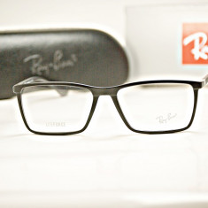 Rama de ochelari de vedere Ray Ban RB7049 2077 Lite Force - Rama ochelari Ray Ban, Barbati, Negru, Dreptunghiulare, Plastic, Rama intreaga