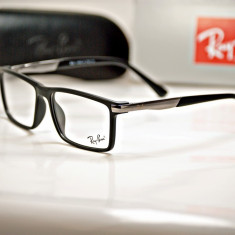 Rama de ochelari de vedere Ray Ban RB 8916 C2 - Rama ochelari Ray Ban, Unisex, Negru, Dreptunghiulare, Plastic, Rama intreaga