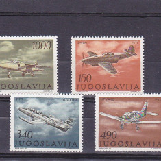 Aviatie militara Iugoslavia. - Timbre straine, Nestampilat