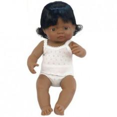 Papusa MINILAND Baby Hispanic Fata 40cm