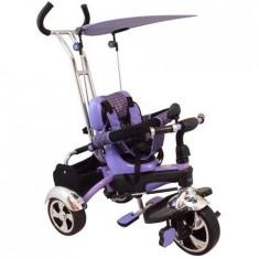 Tricicleta multifunctionala Happy Days - mov - Tricicleta copii Baby Mix