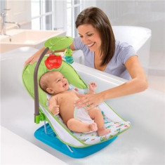 Suport de baita Deluxe cu bara de jucarii - Cadita bebelusi Summer Infant
