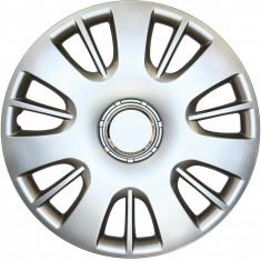 Set capace roti Opel Corsa D, pe 15 inch, culoare Silver, 15-312