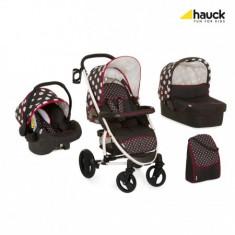 Set Carucior Malibu XL All In One Dots Black - Carucior copii 3 in 1 Hauck
