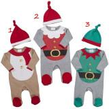 Salopeta cu caciulita - Baby Santa Christmas