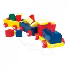 Trenuletul Colorat cu Forme - Masinuta Bino