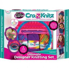 Kit de Crosetat Ultimate Designer Cra-Z-Knitz - Roboti de jucarie