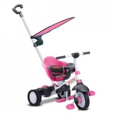 Tricicleta 3 in 1 Charm Plus Roz - Tricicleta copii Feber