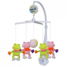 Carusel muzical Frogs - Carusel patut Baby Mix