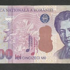 ROMANIA 50000 50.000 LEI 2000 [1] VF+ - Bancnota romaneasca