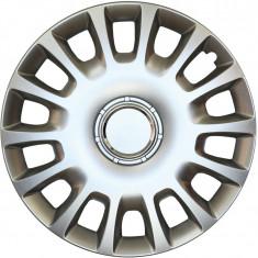 Set capace roti Opel Corsa D, pe 14 inch, culoare Silver, 14-214