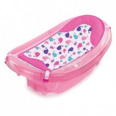 Set cadita si suport de baita Sparkle and Splash Pink - Cadita bebelusi Summer Infant