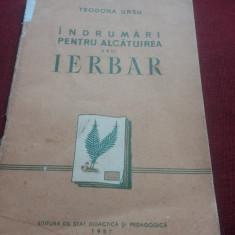 TEODORA URSU - INDRUMARI PENTRU ALCATUIREA UNUI IERBAR