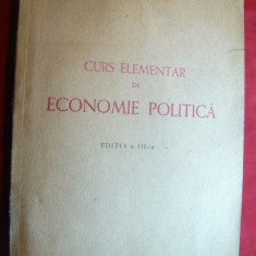 B.Zaharescu - Curs elementar de Economie Politica - Ed. Cartea Romaneasca 1948 - Carte Economie Politica