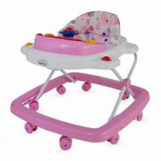 Premergator DHS Easy cu jucarie muzicala roz, 1-3 ani