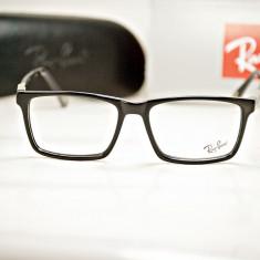 Rama de ochelari de vedere Ray Ban RB 6287 C1 - Rama ochelari Ray Ban, Unisex, Negru, Dreptunghiulare, Plastic, Rama intreaga