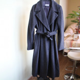 Palton deosebit, gri-antracit, lana, mohair, casmir, alpaca