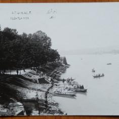 Ada Kaleh, Debarcaderul, inceput de secol 20, necirculata, tip fotografie - Carte Postala Muntenia 1904-1918