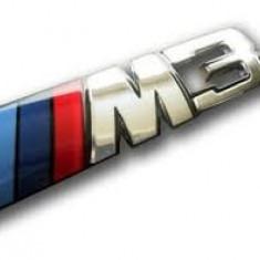 Emblema spate BMW, M3 metalica silver - Embleme auto