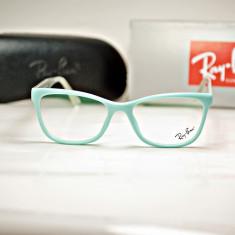 Rama de ochelari de vedere Ray Ban RB 4145 2027 bleu- verde - Rama ochelari Ray Ban, Unisex, Dreptunghiulare, Plastic, Rama intreaga, Fashion