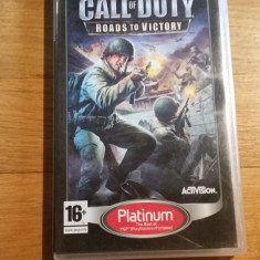JOC PSP Call of duty Roads to victory Platinum Original by WADDER - Jocuri PSP Activision, Shooting, 16+, Single player