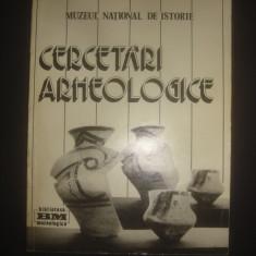 MUZEUL NATIONAL DE ISTORIE - CERCETARI ARHEOLOGICE
