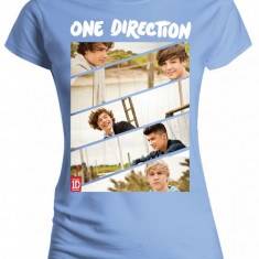 Tricou Fete One Direction - Band Sliced Slim Youth - Tricou dama, Marime: L