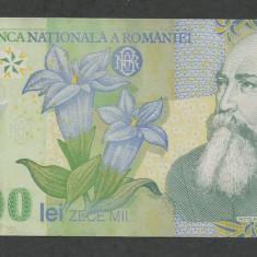 ROMANIA 10000 10.000 LEI 2000 2001 ( prefix 01 ) [2] VF, semnatura ISARESCU - Bancnota romaneasca