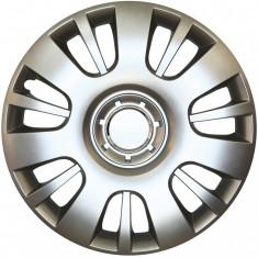 Set capace roti Opel Astra H, pe 16 inch, culoare Silver, 16-407