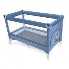 Patut pliabil Simple 03 blue 2016 - Patut pliant bebelusi Baby Design