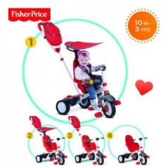 Tricicleta 3 in 1 Charisma Rosu - Tricicleta copii Feber