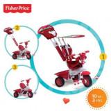 Tricicleta 3 In 1 Royal Rosu - Tricicleta copii Falk