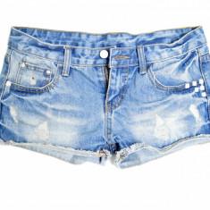 Pantaloni scurti Jeans - Tinte Albe - Blugi dama, Marime: 26, Albastru