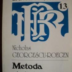 METODA STATISTICA, VOL. III ( PARTEA I ) de NICHOLAS GEORGESCU - ROEGEN - Carte Marketing