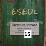 Eseul Literatura Romana Bac - Teste Bacalaureat art
