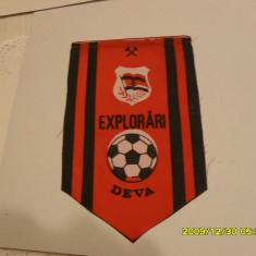 Fanion Explorari Deva - Fanion fotbal