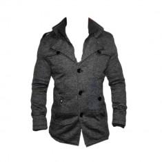 Palton Zara Man Office Elegant - Model Slim - Toamna Iarna Cod Produs 2201 - Palton barbati, Marime: XXL, Culoare: Gri, Bumbac