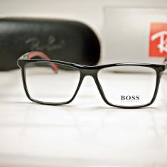 Rama de ochelari de vedere Hugo Boss 0708 C1 - Rama ochelari Hugo Boss, Unisex, Dreptunghiulare, Plastic, Rama intreaga, Fashion