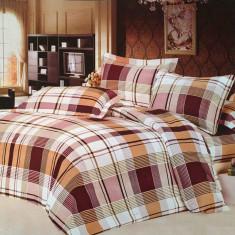 Lenjerie pat 2 persoane - Paris (4 piese) - Lenjerie de pat, Bumbac