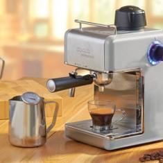 Expresor de cafea si cana metalica cu termometru, Grii grafit - Cafetiera