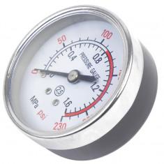Manometru aer Carpoint 1/2, ceas de 50mm, 0-1.6 MPa / 0-230PSI - Manometru presiune roti Auto