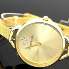 Ceas CALVIN KLEIN, Gold Edition - Ceas dama Calvin Klein, Otel, Analog