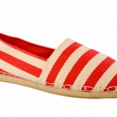 Espadrile barbatesti dungi rosii, model Red Stripes - Espadrile barbati, Marime: 43