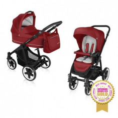 Carucior Multifunctional 2 In 1 Lupo Comfort 02 Dark Red 2016 - Carucior copii 2 in 1 Baby Design