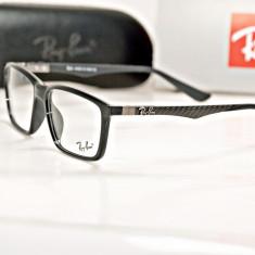 Rama de ochelari de vedere Ray Ban RB 8903 F C1 - Rama ochelari Ray Ban, Unisex, Negru, Dreptunghiulare, Plastic, Rama intreaga